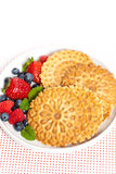 Waffle cookies Royalty Free Stock Photo