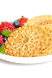 Waffle cookies Stock Images