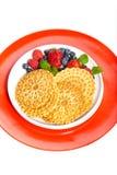 Waffle cookies Stock Image