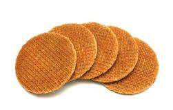 Waffle Cookies Stock Photo