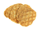 Waffle cookies on white background Stock Photo