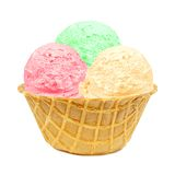 waffle льда шара cream Стоковые Фото