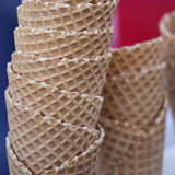 Waffle cups. For ice cream Royalty Free Stock Image