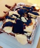 Waffle da banana Imagem de Stock Royalty Free