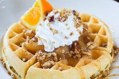 Waffle da bolinha de massa de Apple Imagem de Stock