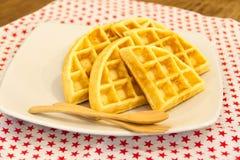 Waffle da manteiga Foto de Stock Royalty Free