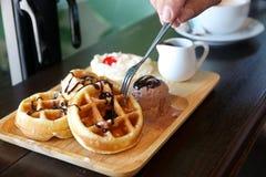 Waffle da manteiga Imagem de Stock