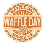 Waffle Day stamp. Waffle Day, March 25, rubber stamp, vector Illustration Royalty Free Stock Photography