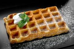 Waffle de Bélgica fotografia de stock