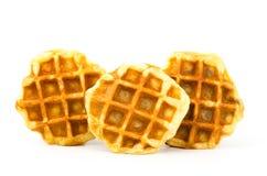 Waffle. Delicious waffle on white background royalty free stock photos