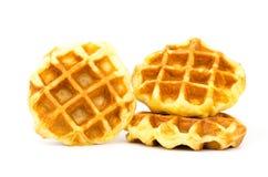 Waffle. Delicious waffle on white background stock photo