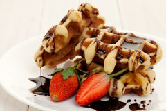 Waffle dessert Royalty Free Stock Images