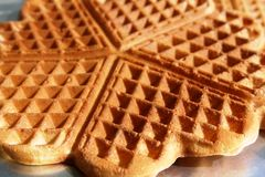 Waffle - detail. Royalty Free Stock Photography