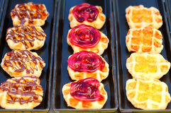 Waffle different dressing face Stock Images