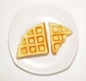 Waffle on dish Stock Photos