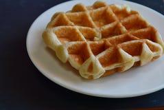 Waffle on the dish Stock Image