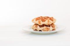 Waffle on dish Royalty Free Stock Photos