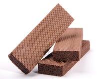 Waffle do chocolate imagem de stock