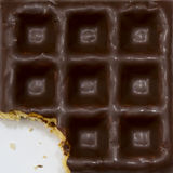 Waffle do chocolate Foto de Stock Royalty Free