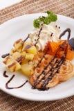 Waffle do coração Foto de Stock Royalty Free