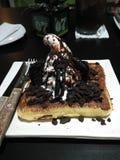 Waffle do gelado de Oreo Fotos de Stock