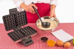 Waffle dough Royalty Free Stock Photography