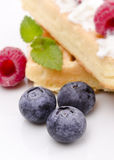 Waffle with fruit Royalty Free Stock Photography