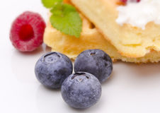 Waffle with fruit Royalty Free Stock Photos