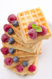 Waffle with fruit Royalty Free Stock Photo