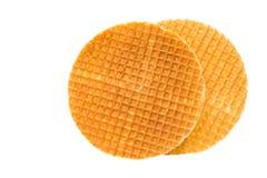 Waffle holandês imagem de stock
