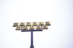 Waffle House restaurant sign in Georgia Stock Photo