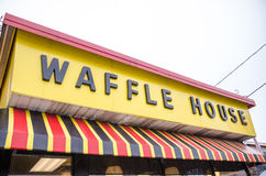 Waffle House restaurant sign in Georgia Royalty Free Stock Image