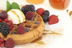 Waffle ice cream Stock Photo