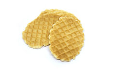Waffle isolado em um fundo branco Imagem de Stock