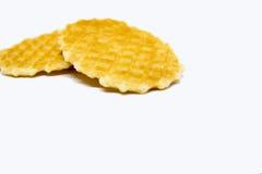 Waffle isolado em um fundo branco Fotos de Stock