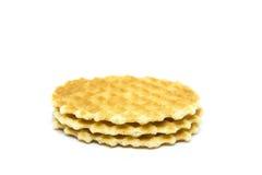 Waffle isolado em um fundo branco Fotografia de Stock Royalty Free