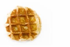 Waffle. A waffle isolated on white background Royalty Free Stock Photo