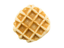 Waffle isolated on white background Stock Image