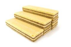 Waffle isolated on white Royalty Free Stock Images