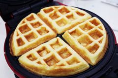 Waffle maker machine at home. Waffle maker machine easy to do at home Stock Photo
