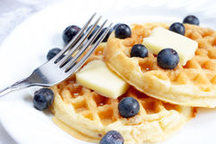 Waffle menu background Royalty Free Stock Image