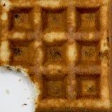Waffle missing piece Stock Image