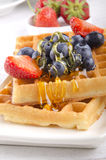 Waffle with mixed fruit Royalty Free Stock Photos