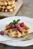 Waffle perfect breakfast stock photography