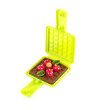 Waffle plasticine in waffle mold toy Royalty Free Stock Images