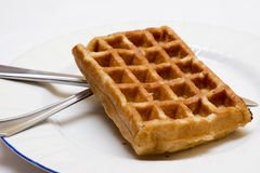 Waffle on the plate Royalty Free Stock Image