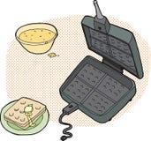 Waffle Preparation Royalty Free Stock Photography