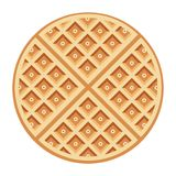 Waffle redondo de Bélgica do vetor ilustração royalty free