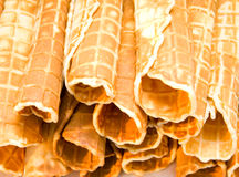 Waffle rolles Royalty Free Stock Photos