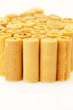 Waffle rolls Royalty Free Stock Photography